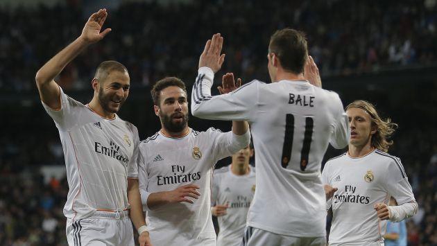 Real Madrid venció al Villarreal con dos tantos de Karim Benzema. (AP)