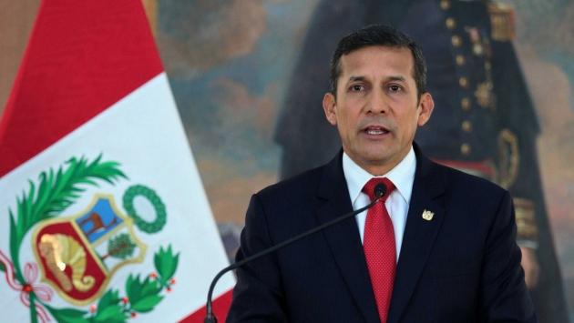 Solo el fallo de La Haya pudo hacer un paréntesis en la caída libre de Ollanta Humala en las encuestas. (Presidencia)