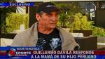 Guillermo Dávila: 'Me siento extorsionado por la madre de Vasco' - Noticias de jessica madueno