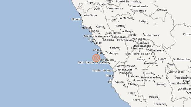 Sismo de 4.1 grados se sintió en Lima. (IGP)