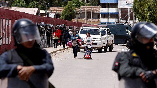 Cusco: Paralización de 48 horas deja cinco heridos y tres detenidos. (Andina)