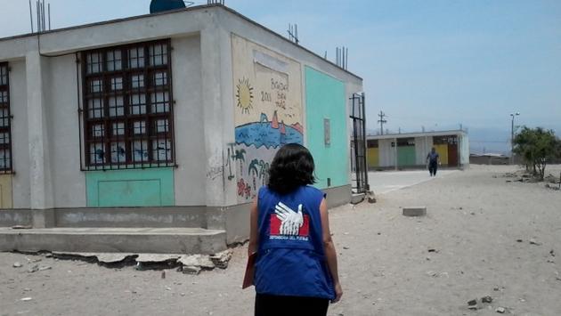 Colegio en Villa El Salvador ni siquiera tiene cerco perimétrico. (Defensoría del Pueblo)