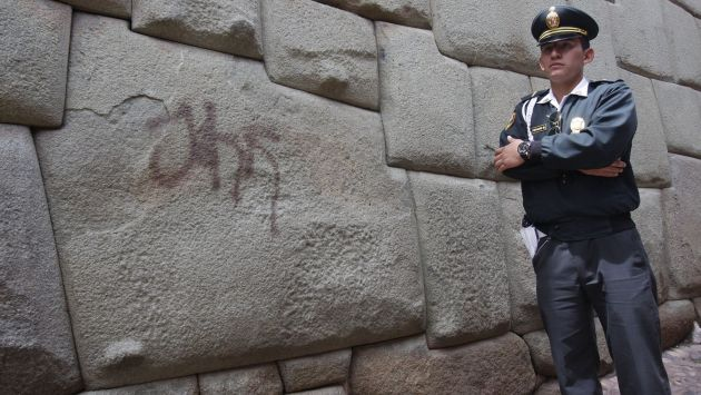 Detienen a turistas acusados de pintas. (Andina)