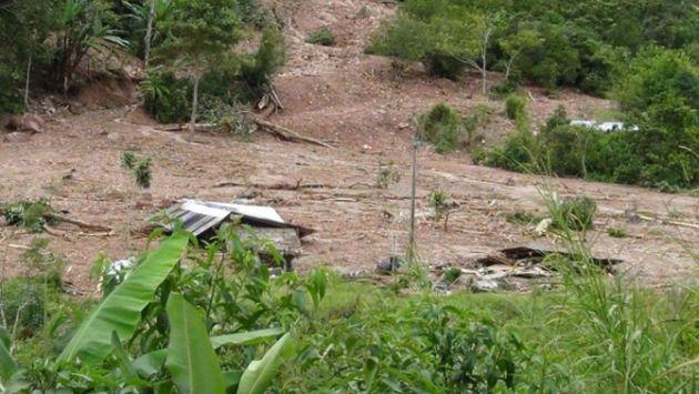 Al menos 15 personas damnificadas tras huaico en La Florencia. (Andina)