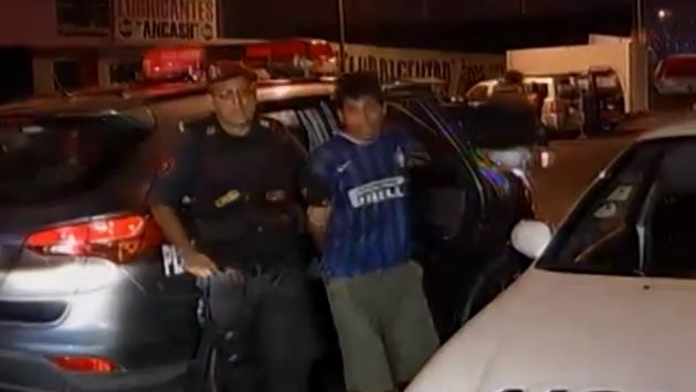 Los delincuentes fueron capturados por la Policía Nacional en Los Olivos. (América Noticias)