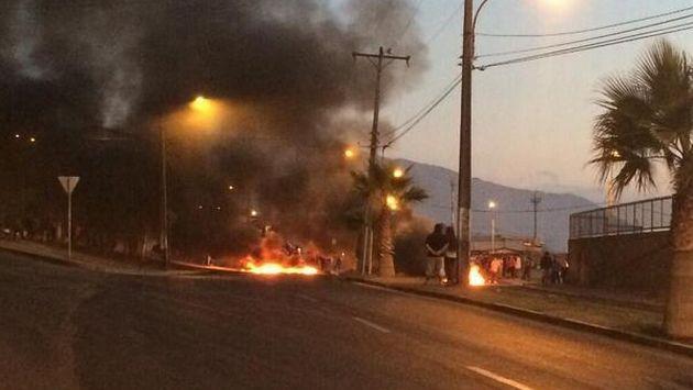 Terremoto en Chile: Afectados protestan por falta de ayuda en Iquique. (Twitter)