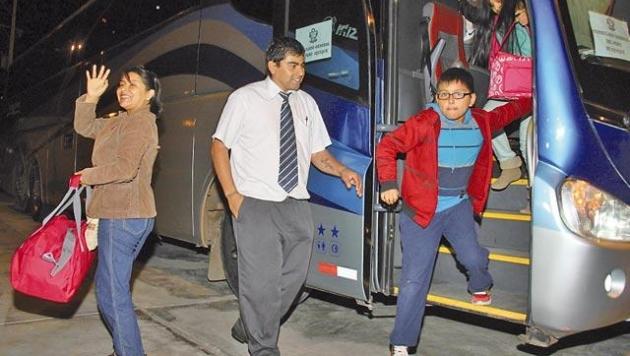 Peruanos retornaron en bus chileno. (Internet)