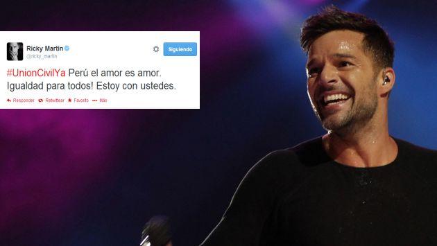 Ricky Martin envió mensaje de apoyo a la Unión Civil en el Perú. (Twitter/AP)
