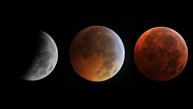 Luna se teñirá de rojo la madrugada del martes por eclipse total. (AFP)