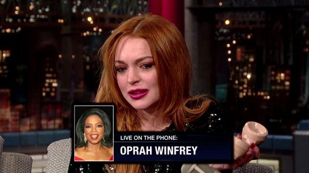 Oprah Winfrey hizo llorar a Lindsay Lohan. (YouTube)
