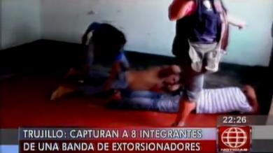 Trujillo: Policía captura a integrantes de una banda de extorsionadores. (Captura de TV)