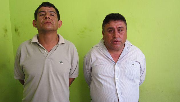 Carlos  García y Amadeo Rodríguez ya están en manos de la Policía. (Alan Benites)