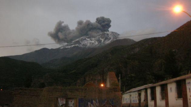Arequipa: Cenizas del volcán Ubinas cayó en la ciudad Blanca. (Difusión)