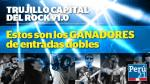 Ganadores de las entradas para Trujillo Capital del Rock vol. 1 - Noticias de giovanni bermudez