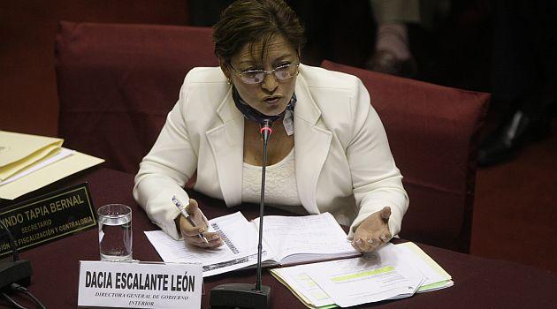 Dacia Escalante tendrá que explicar en el Congreso graves denuncias en la Onagi. (USI)