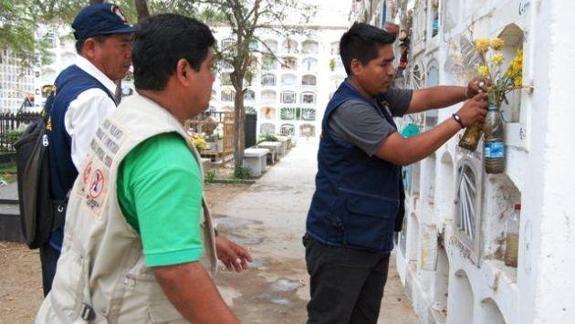 Harán limpieza en cementerios por dengue. (USI/Referencial)