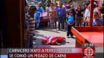 Cercado de Lima: Carnicero mató a un perro que le robó un pedazo de carne - Noticias de perro maltratado