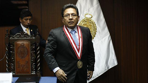 Fiscal de la Nación, Carlos Ramos Heredia, se encuentra investigado por su desempeño en caso 'La Centralita'. (David Vexelman)