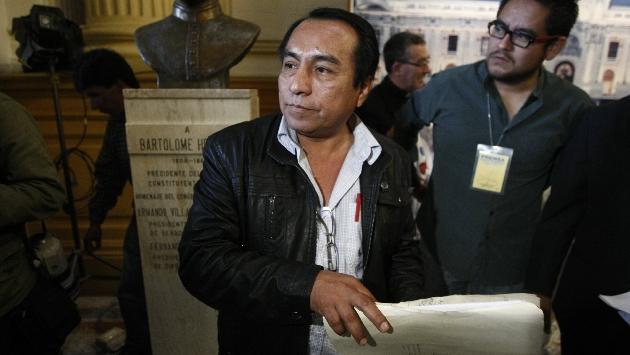 """Herida abierta. Chanduví reiteró que se siente """"traicionado"""" por el presidente Ollanta Humala. (Mario Zapata)"""