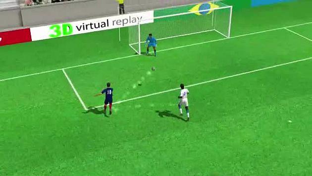 """Francia aplastó a Honduras con un doblete de Benzema y un gol polémico resuelto con el """"ojo de halcón"""". (AFP)"""