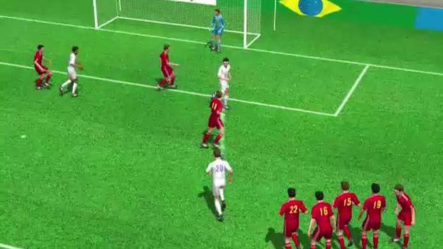Chile venció 2-0 a España y la eliminó del Mundial de Brasil 2014. (AFP)