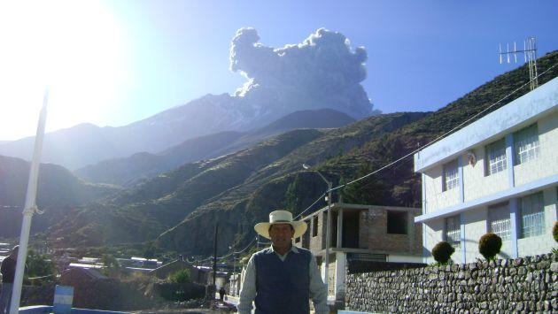 Volcán Ubinas despertó luego de varios días de calma. (Difusión)