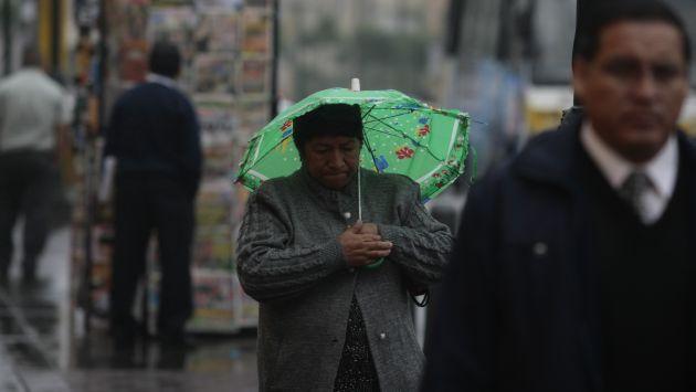 También se presentó una fuerte llovizna. (Rafael Cornejo)