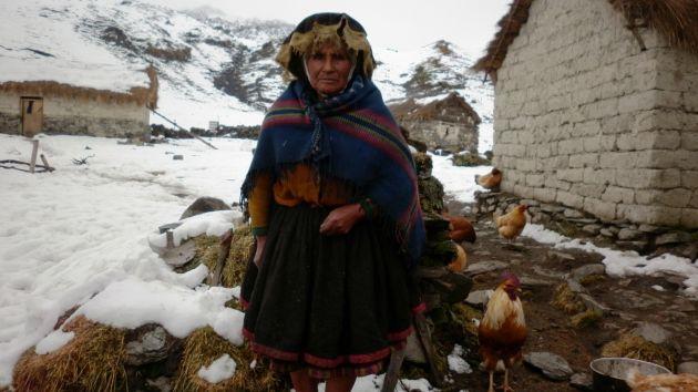 MUCHO CUIDADO. Instan a adoptar medidas de prevención por heladas. (Andina)
