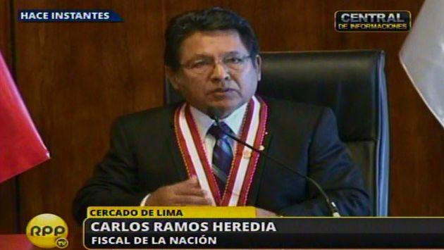 Ramos Heredia no quiso confirmar si Parco dejará caso. (RPP TV)