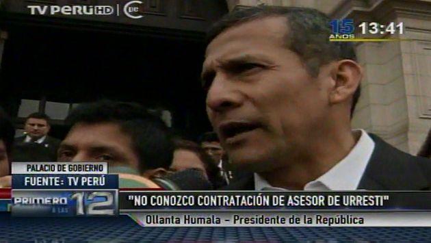 Humala dialogó con la prensa en Palacio. (Canal N)