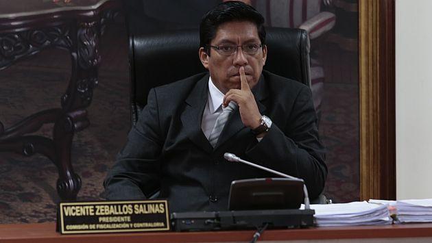 Vicente Zeballos preside comisión que investiga a Orellana en el Congreso. (César Fajardo)