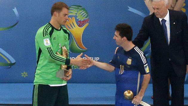 Lionel Messi ganó Balón de Oro por mejor jugador del Mundial Brasil 2014. (Reuters)