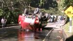 Junín: Vuelco de cisterna causa derrame de 3,000 galones de combustible - Noticias de provincia de chanchamayo