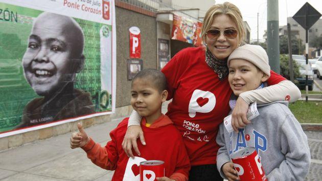 Apoyó a los niños con cáncer. (Nancy Dueñas)