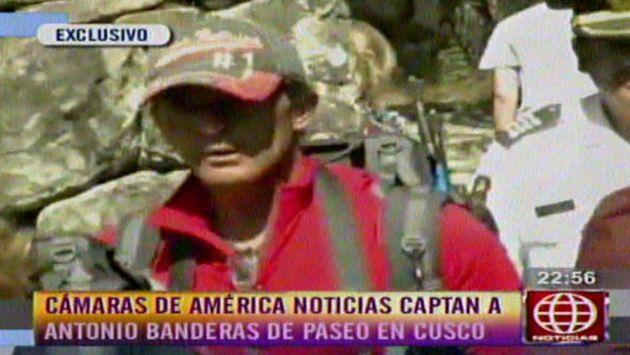 Antonio Banderas sigue disfrutando del Cusco. (América TV)