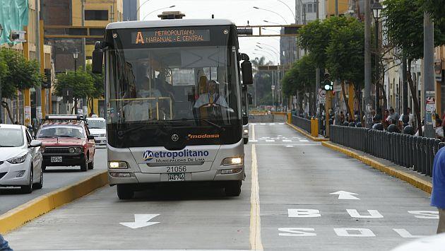 Los servicios expresos 1, 2, 3, 4 y 5 y el servicio Súper Expreso no operarán en dichas fechas. (César Fajardo)
