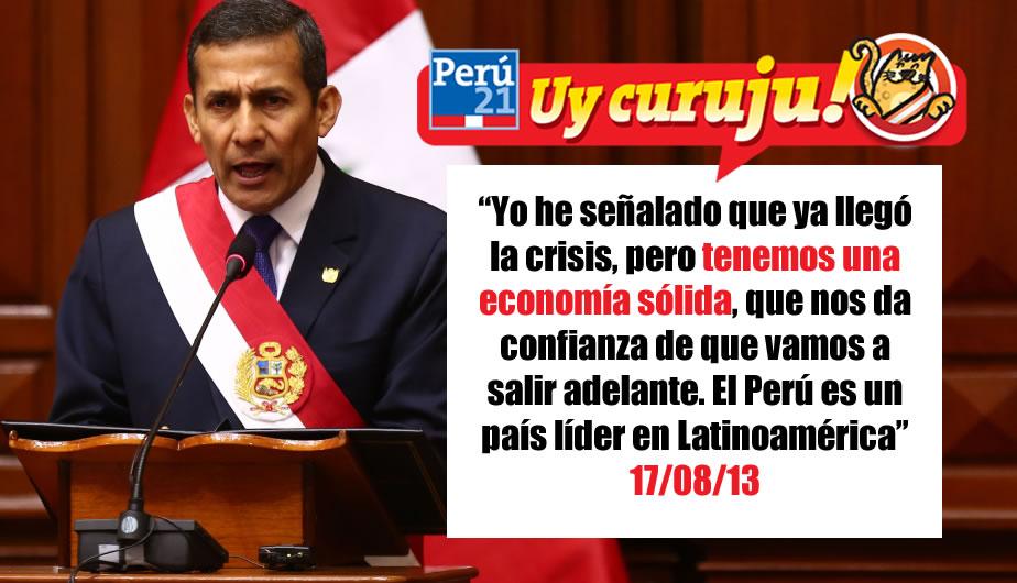 Humala sobre la desaceleración económica del Perú. (Perú21)