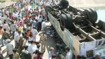 India: Al menos 20 muertos por caída de bus a un barranco - Noticias de accidente de bus