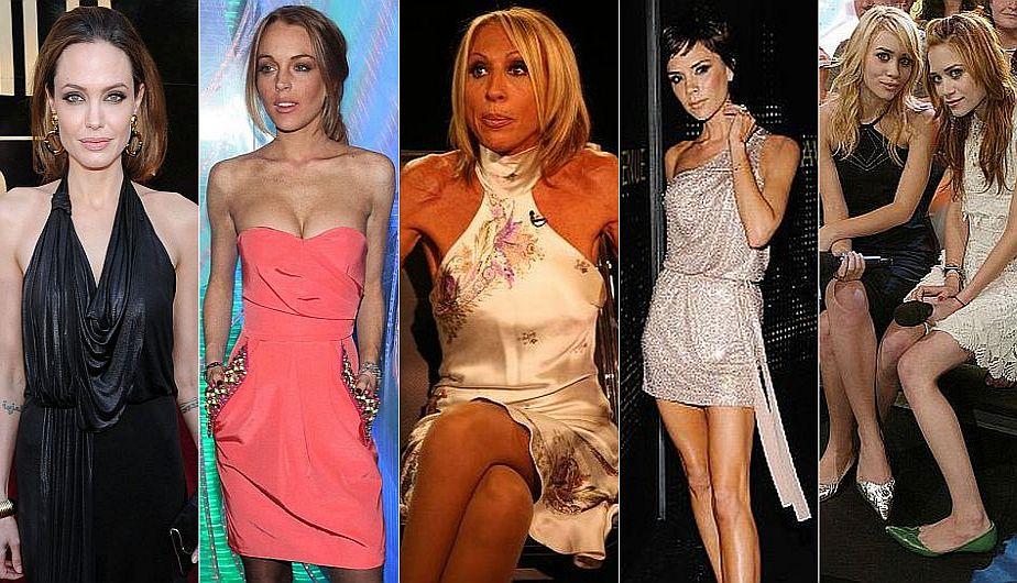 Laura Bozzo y otras famosas que han sufrido anorexia. (USI)
