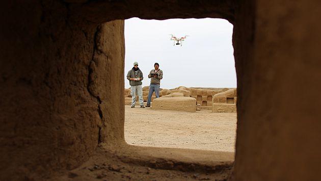 En todo su esplendor. Aparatos captan con nitidez la belleza del complejo arqueológico. (Complejo Arqueológico Chan Chan)