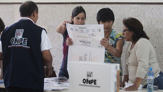 ONPE sorteará este jueves 21 de agosto los miembros de mesa para las Elecciones 2014. (USI)