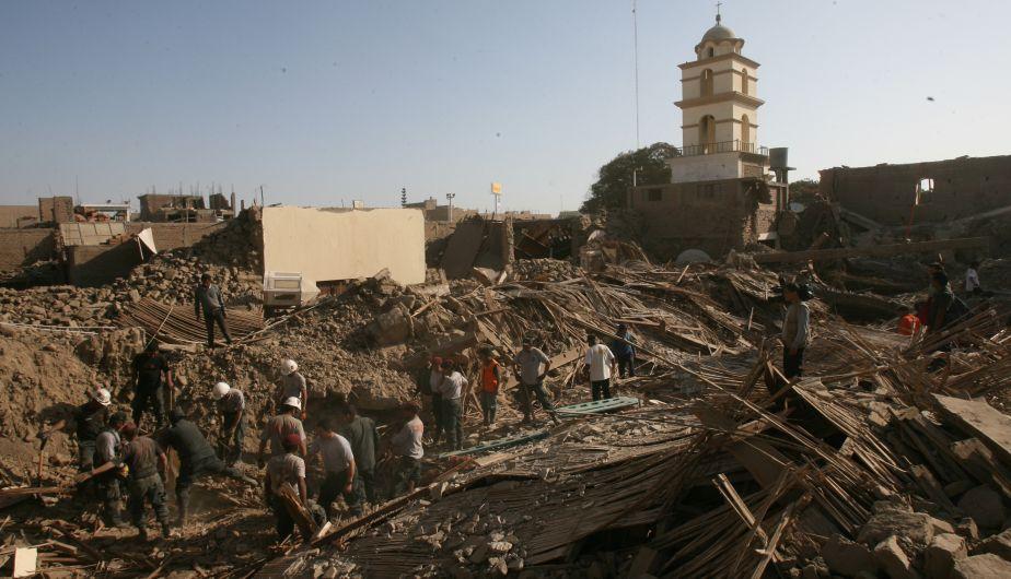Résultats de recherche d'images pour «terremoto pisco 2007»