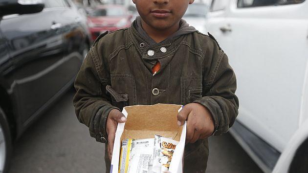Más de 1,6 millones de menores trabajan en calles del Perú. (Mario Zapata)