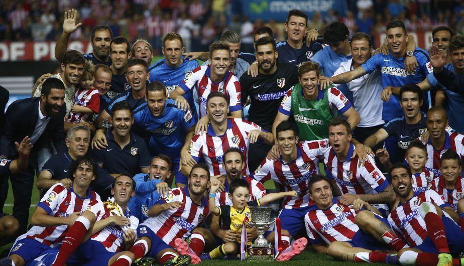 Atlético de Madrid se tumba al Real Madrid y gana la Supercopa de España. (AP)