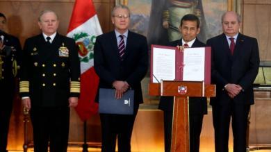 Ollanta Humala, Frontera Marítima, Carta de Límite Exterior