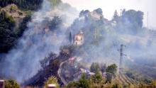 Italia, Accidente aéreo, Aviones caza, Fuerza Aérea italiana