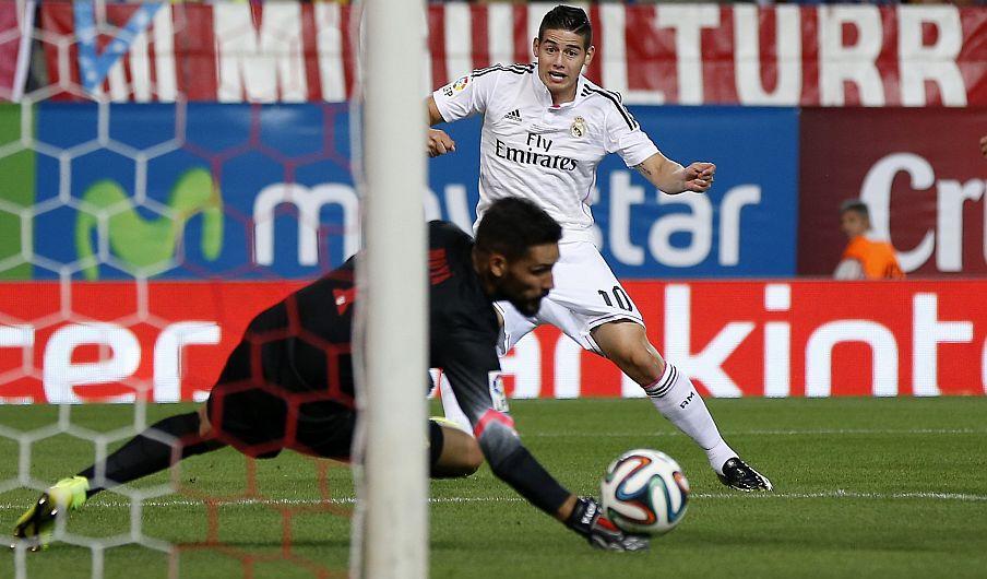 James Rodríguez, el colombiano del Real Madrid. (AP)