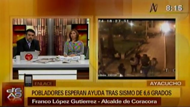 El alcalde Franco López da balance de sismo en Coracora. (Canal N)