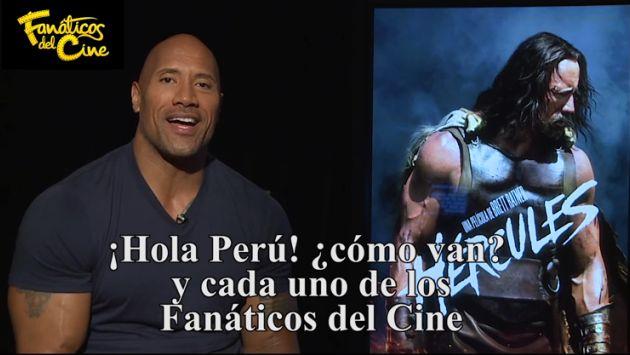 Dwayne 'La Roca' Johnson mandó saludos a sus seguidores peruanos
