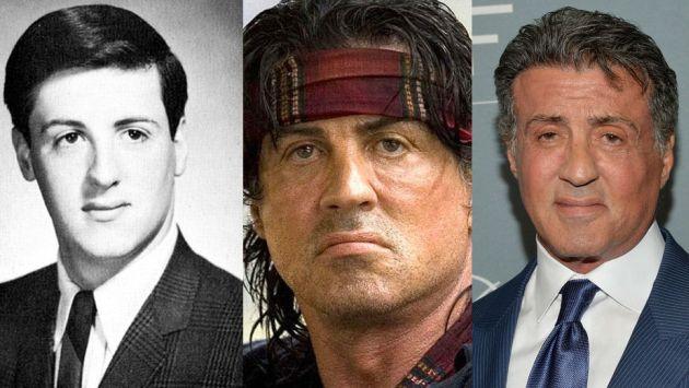Sylvester Stallone y sus 7 transformaciones faciales